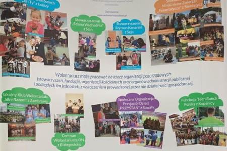 Akademickie Forum Samorządowe przy PWSiP w Łomży gości wystawę Podlaskiej Sieci Wolontariatu